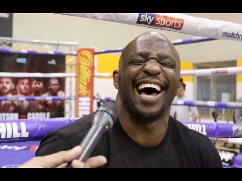 'IM GONNA RUB HIS BALD HEAD!' - DILLIAN WHYTE RAW ON BROWNE, RIPS WILDER STYLE, REVEALS CHISORA TEXT