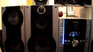 PANASONIC HOME THEATER MINI HI-FI SYSTEM 5 CDS