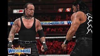 WWE 2K18 Roman Reigns vs The Undertaker Simulation Match