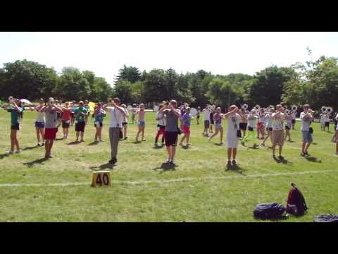 MHS at NIU Band Camp 2009 - Part 1 on Field.