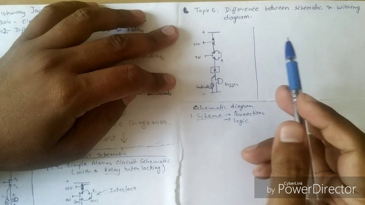 Diagram  Difference Between Schematic And Wiring Diagram