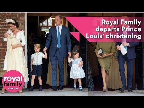 Royal Family departs Prince Louis' christening