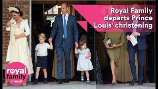 Royal Family departs Prince Louis' christening