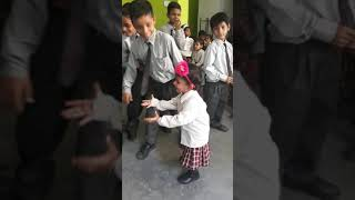 Cute baby expressions at other school childrens