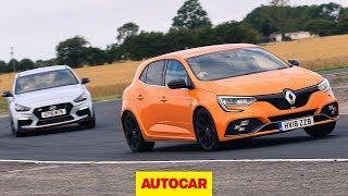 Renault Megane RS 280 Cup vs Hyundai i30N track battle | Autocar
