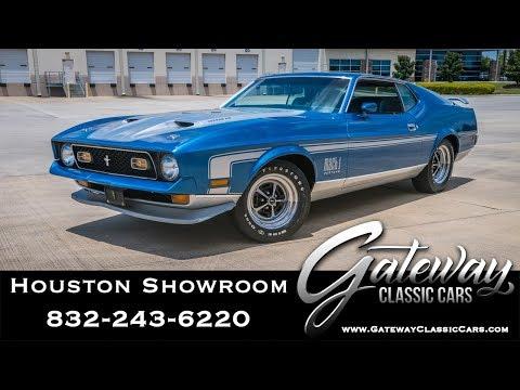 1971 Ford Mustang Mach 1 Gatewayway Classic Cars #1571 Houston Showroom