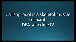 How to pronounce carisoprodol (Soma) (Memorizing Pharmacology Flashcard)