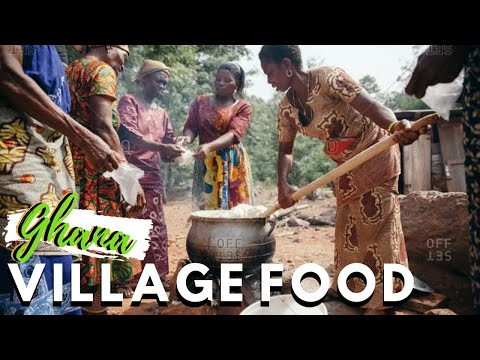 INCREDIBLE VILLAGE FOOD IN AFRICA | Trying a popular Village food in West African, Ghana vlog