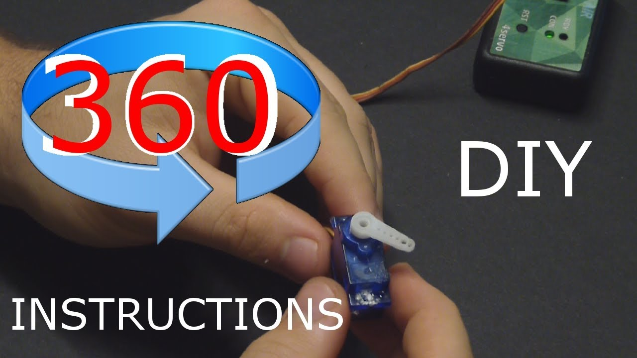 How To: Convert RC Servo to 360 Continuous Rotation for Projects