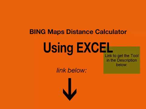 Bing maps for excel -  Distance Calculator Using Bing Maps and Excel