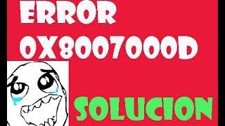 Error 0x8007000D Datos no Validos windows 10/8/7 I SOLUCIÓN 2017