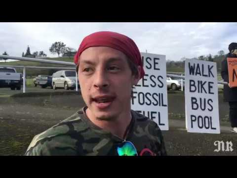 Protesters gather in opposition to Jordan Cove LNG pipeline