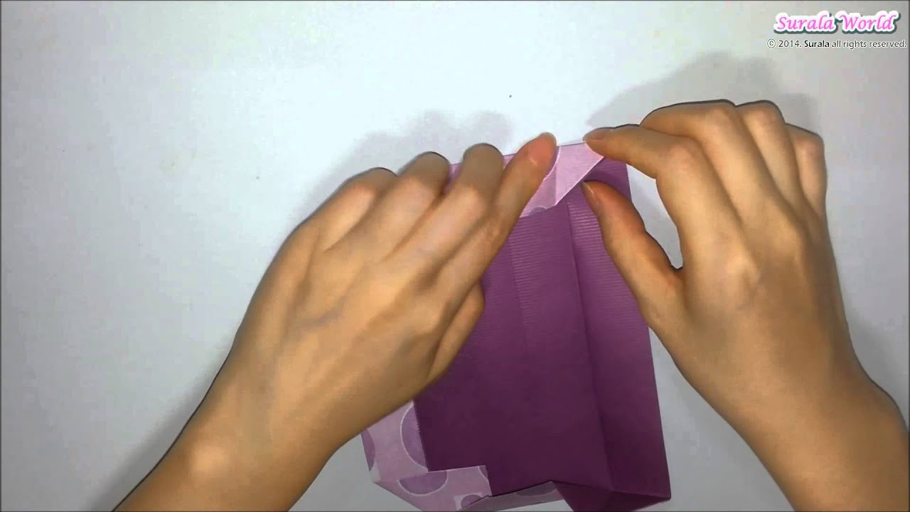 Origami - Oblong Gift Box / 종이접기 - 길쭉한 선물 상자 - YouTube - photo#11