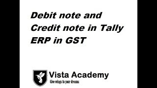 debit note and credit note in tally erp in GST