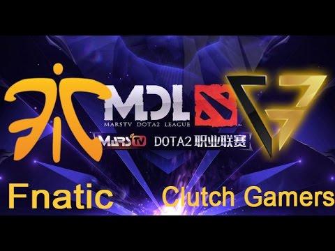 Fnatic vs Clutch Gamers - MDL Quals - Clutch Gamers vs Fnatic
