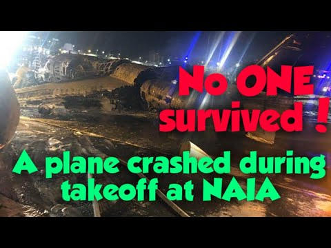 Watch: Lion Air Plane Going To Japan Crashes At NAIA During Takeoff! All Died!