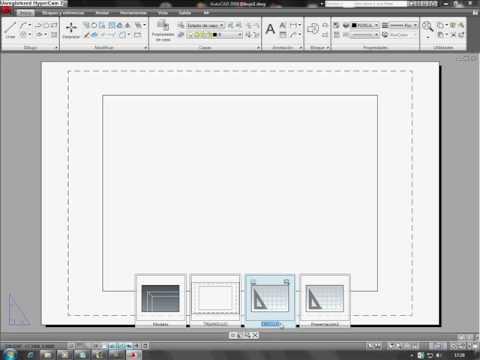 Tutorial de presentaciones en un archivo de autocad 2009 for Archivos de cad