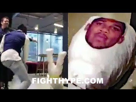 "DEONTAY WILDER SHOWS ANTHONY JOSHUA HOW HE'LL ""KNOCK HIS HEAD OFF""; CRUSHES AJ PIÑATA"