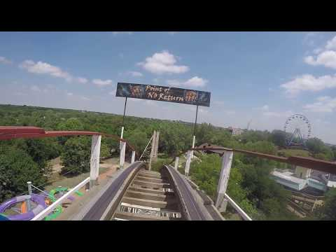 Wildcat Wooden Roller Coaster Front Seat POV- Frontier City Amusement Park - Oklahoma City, Oklahoma