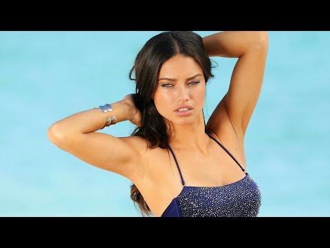 Adriana Lima as a fashion model