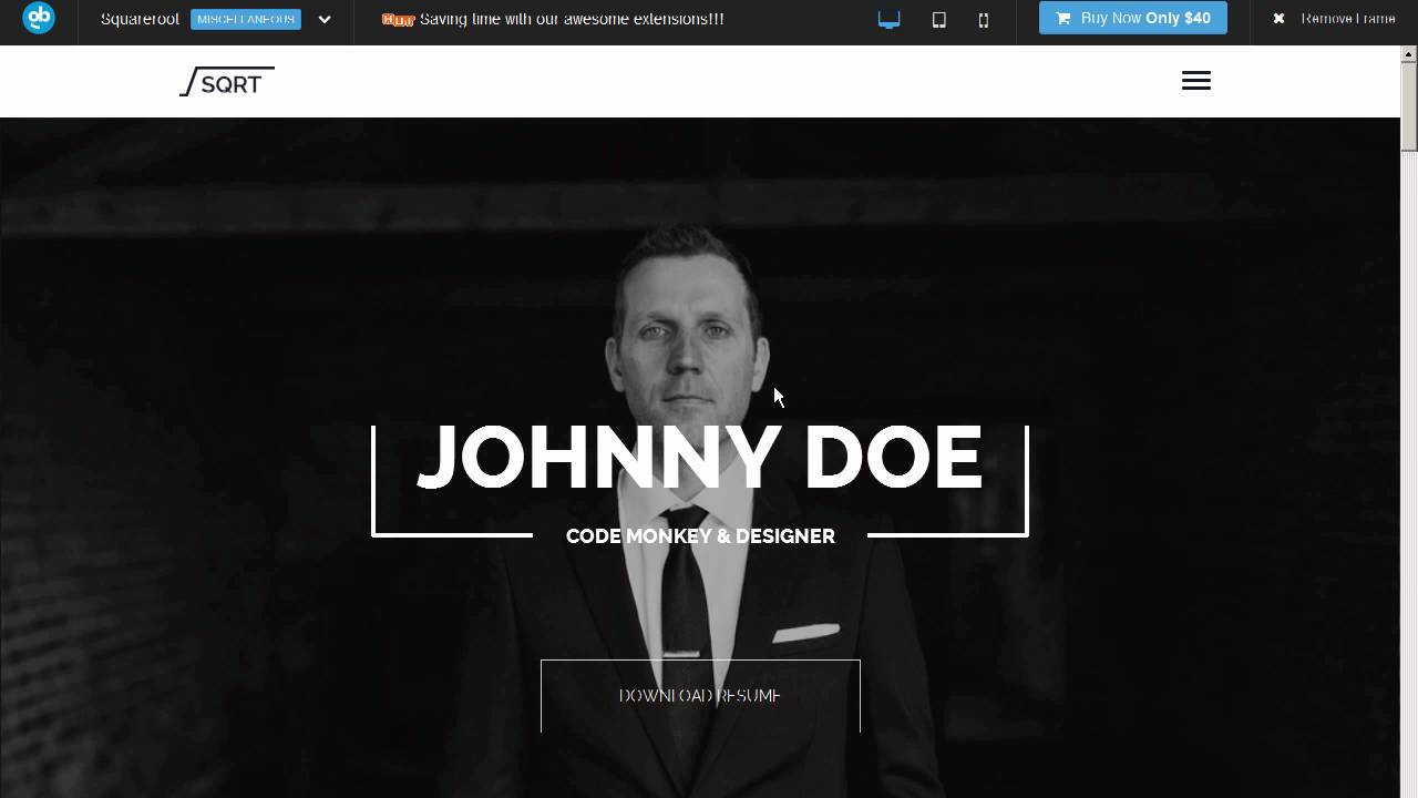 Joomla resume template squareroot cms themes themeforest joomla resume template squareroot cms themes themeforest download yelopaper Choice Image