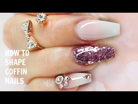 20 Beautiful Coffin Shape Nail Designs The Trend Spotter