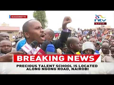 Crowd uproar as MP John Kiarie gives update on Precious Talent School tragedy