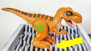 Robot T-Rex Shredded! Robo Alive Dinosaur Toy Destroyed! What's Inside Mecard Dinosaur Toy!
