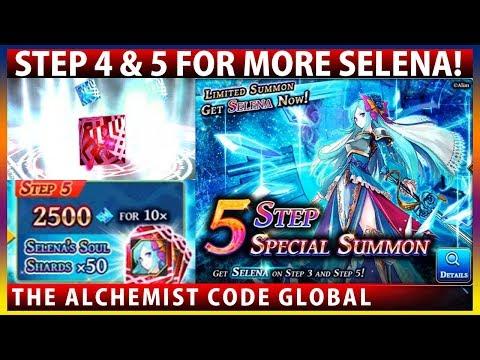 Selena Banner Step 4 & 5 Rare Summon (The Alchemist Code - Brave Frontier Collaboration)