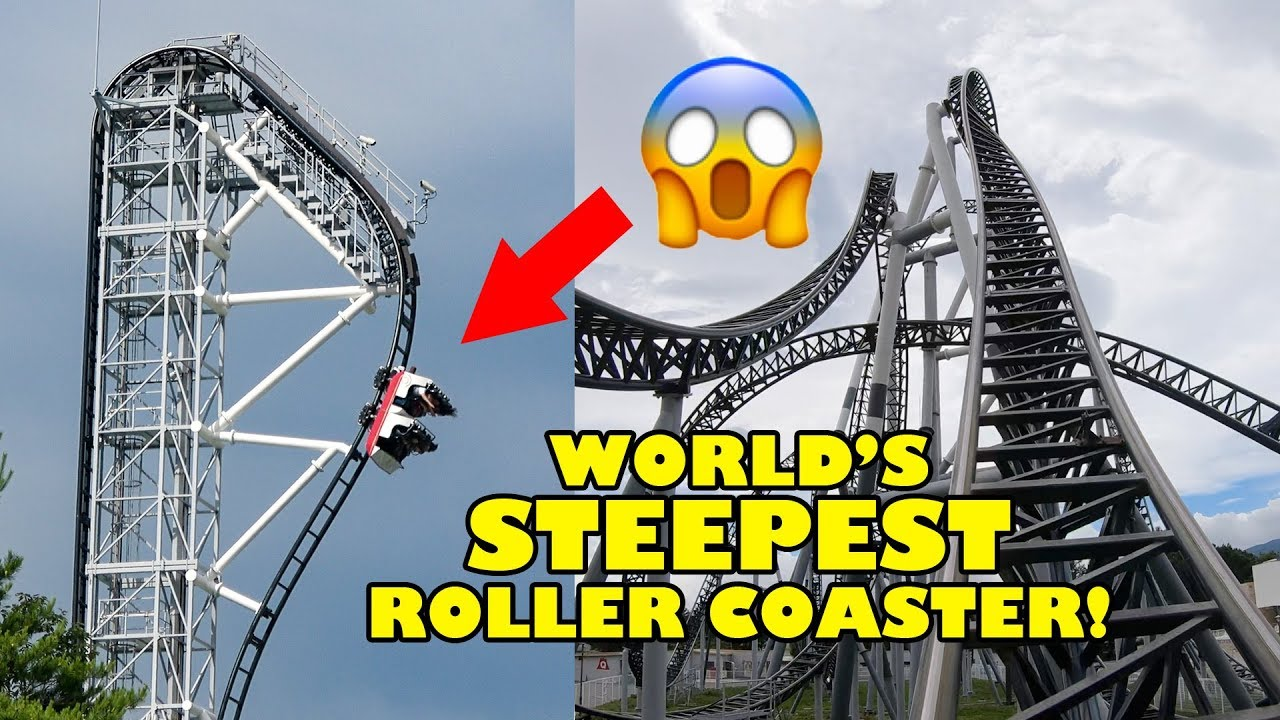 Takabisha World S Steepest Roller Coaster 4k Front Seat Onride Pov Fuji Q Japan Youtube
