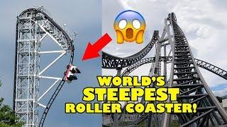 Takabisha World's Steepest Roller Coaster! 4K Front Seat Onride POV Fuji Q Japan