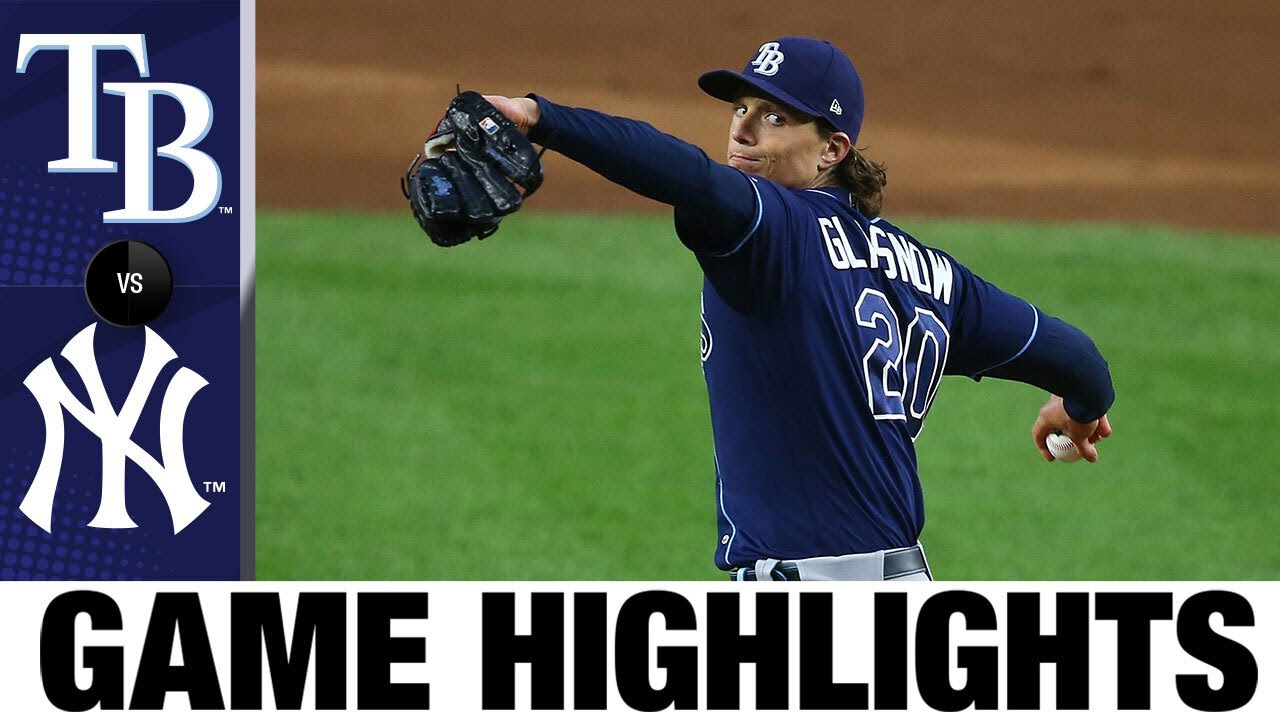 Glasnow, Choi lead Rays over Yankees   Rays-Yankees Game Highlights 8/31/20