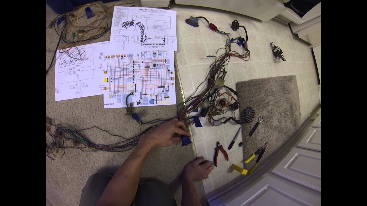maxresdefault wiring harness plans '75 honda cb550 cafe racer build pt 11 1974 honda cb550 wiring diagram at virtualis.co