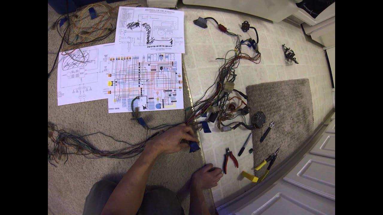 honda cb550 wiring harnes [ 1440 x 1080 Pixel ]