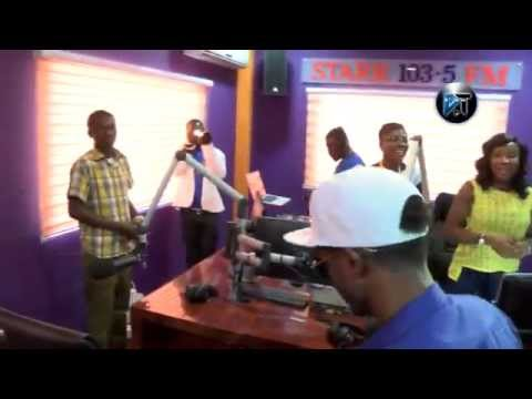 Don Jazzy and MAVINS welcomed at Star FM studios for interview