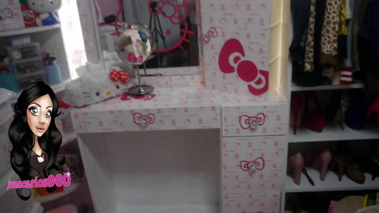 Manualidades decora tu tocador juancarlos960 youtube - Cortinas de hello kitty ...
