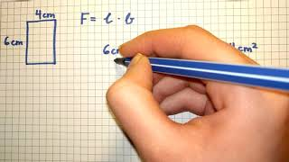 6. Klasse Flächen: cm2 in mm2 umrechnen