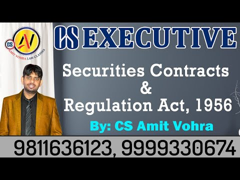 Securities Contracts & Regulation Act, 1956