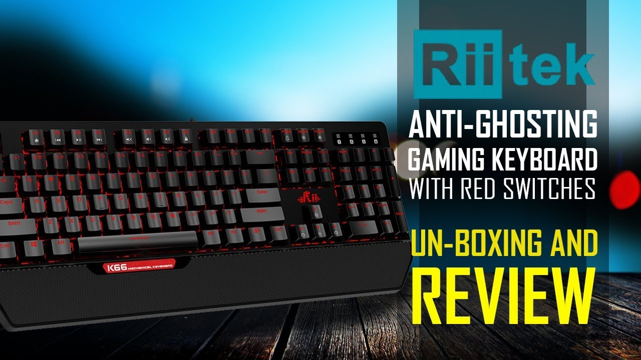 8b880f50a69 Rii K66 Gaming Mechanical Backlit Keyboard - Unboxing And Review ...
