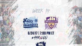 USL LIVE - Harrisburg City Islanders vs Louisville City FC 6/24/17 thumbnail
