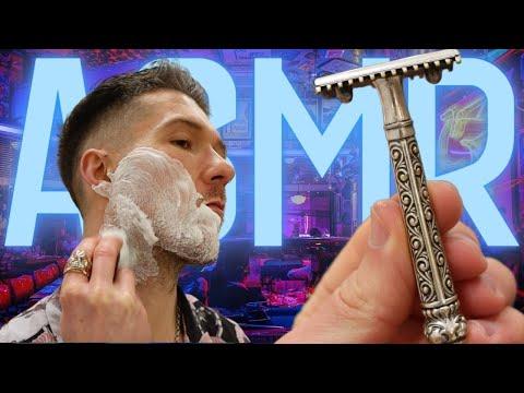 ✨Antique Razor✨ ASMR 👁👄👁 Relax & Calm Shaving In a 💈 Barbershop Help You Sleep 😴