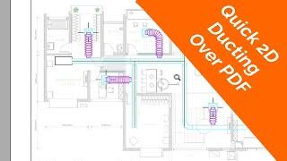 Drawing 2D Ducting Over Floor Plan (Part 2)