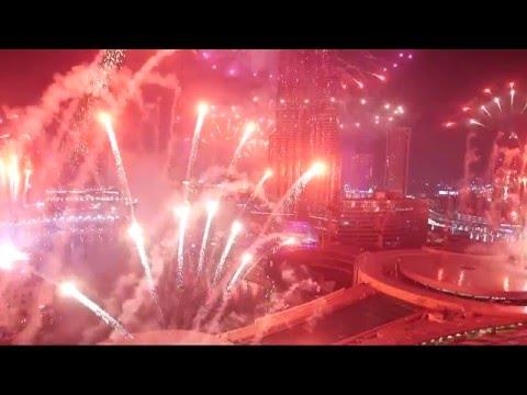 Dubai New Year's Fireworks 2015 - Burj Khalifa Downtown