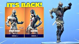 ARACHNE - SPIDER KNIGHT SKINS EST BACK! Fortnite ITEM SHOP 22 février 2019 Fortnite Bataille Royale