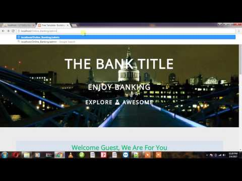 Online Banking System Configuration System