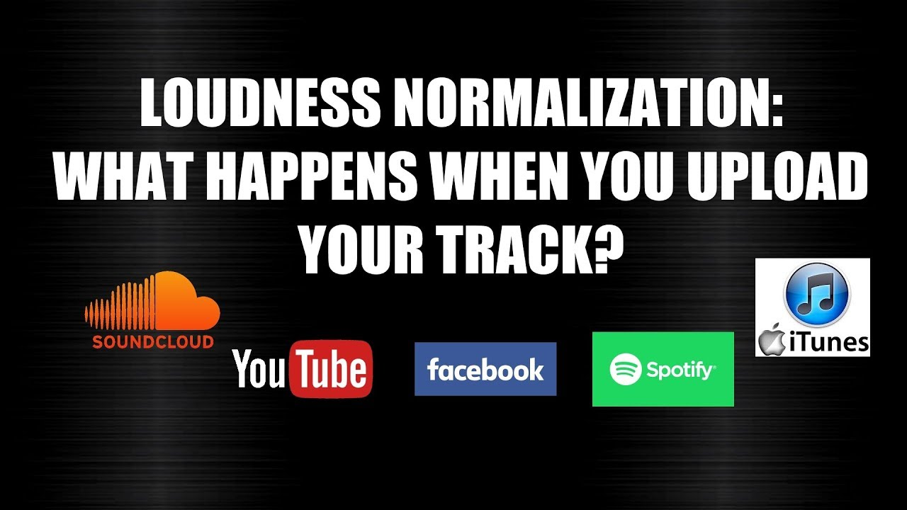 Loudness Normalization on SoundCloud YouTube Facebook  What happens to your  song when you upload it