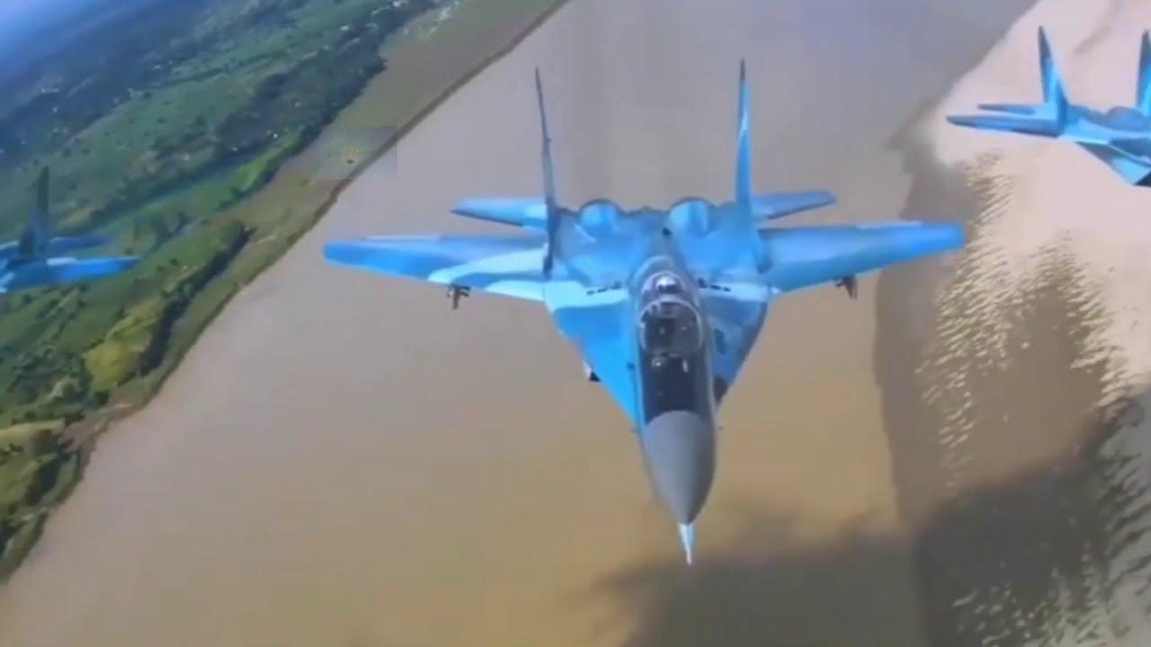Myanmar Air Force MIG 29SMT မြန်မာ့လေတပ်ရဲ့အမာခံ အမ်အိုင်ဂျီ - YouTube