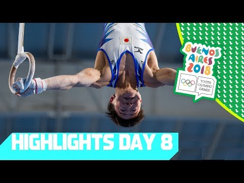 High Flying Gymnastics & stunning Hockey Finals | YOG 2018 Day 8 | Top Moments