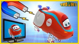 TRAINS Cartoon  New Episode / TeleEthan / Trains Cartoon Collection for Children