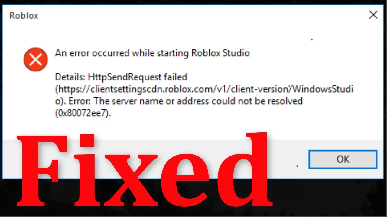 Roblox Cant Join Game Instance Html How To Fix Roblox An Error Occurred While Starting Roblox Studio Error Windows 10 8 7 Youtube
